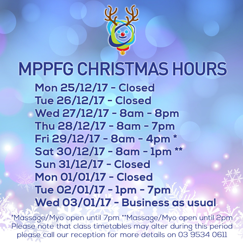 Christmas hours mppfg 17